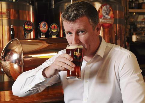 SLAINTE: Shane Long, of Franciscan Well brewery in Cork, started off as a one-man operation in the back of his pub