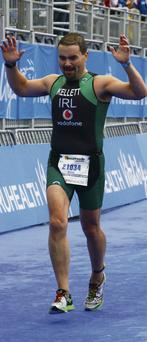 ON YOUR MARKS: Mark Kellett, the Magnet Networks CEO, represented Ireland at the World Triathlon Championships in London last summer. Some 86 countries were represented by 8,500 athletes and Mark came 89th overall in his category
