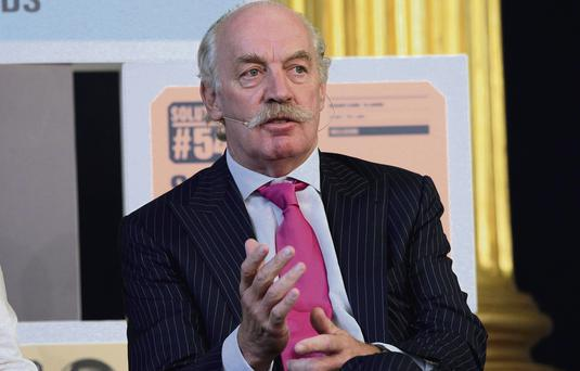 WHITE KNIGHT: Businessman Dermot Desmond, whose IIU fund is trying to save tech firm Intune Networks