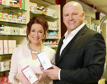 Roz Martin of MedColl with Sean Gallagher. Photo: Gerry Mooney
