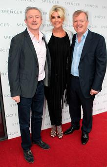 We're Open: Louis Walsh, Lisa Fitzpatrick and Paul Fitzpatrick at the opening of Paul's new hotel The Spencer at The IFSC, Dublin. Photo: Brian McEvoy