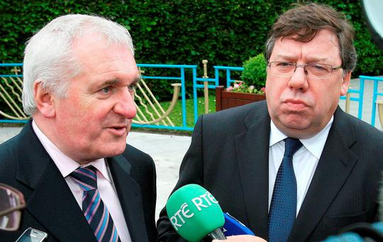 PROJECT RE-ELECT THE GOVERNMENT: FG wants Bertie Ahern and Brian Cowen to appear before the Banking Inquiry just in advance of the next election