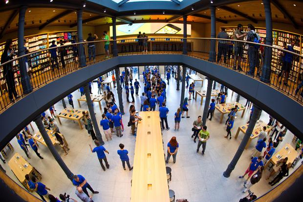 There are now 101 Apple retail stores in eight European countries, including this one recently opened in Madrid, Spain.