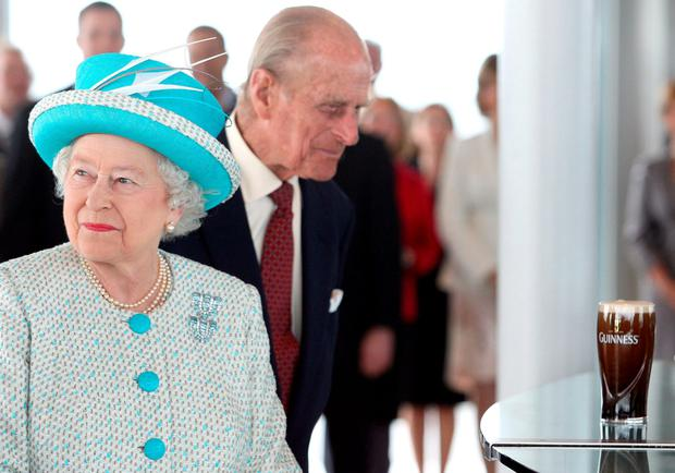 Britain's Queen Elizabeth and the Duke of Edinburgh at the Guinness Storehouse - the visit would not have taken place without the garda digital radio service.