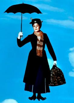 FLIGHT NANNY: Mary Poppins