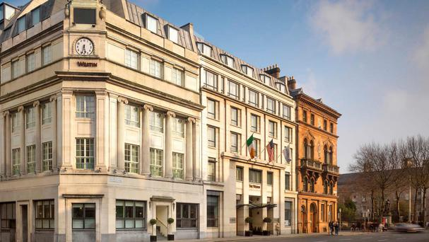 The five-star Westin Hotel on Dublin's College Green narrowed pre-tax losses last year by 17pc to €2.66m