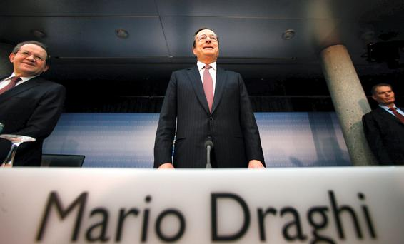 Mario Draghi, president of the European Central Bank
