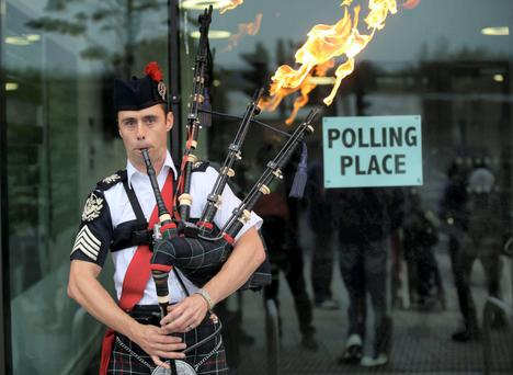 LOW ROAD: Markets rose when the Scots rejected independence. Photo: Paul Hackett/Reuters