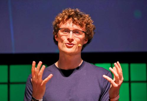 Paddy Cosgrave, Organiser of the Dublin Web Summit pictured at the Dublin Web Summit, RDS ..Picture Colin Keegan, Collins Dublin