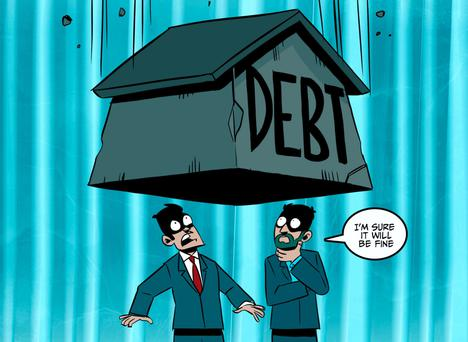 Today, household debt is almost twice the average disposable income.