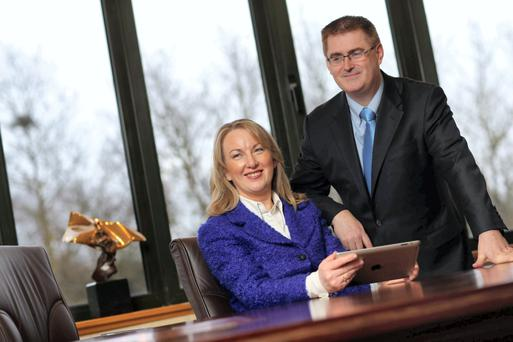 Siobhan Talbot, Glanbia Group MD and Mark Garvey, Glanbia Group FD. Picture Jason Clarke Photography.