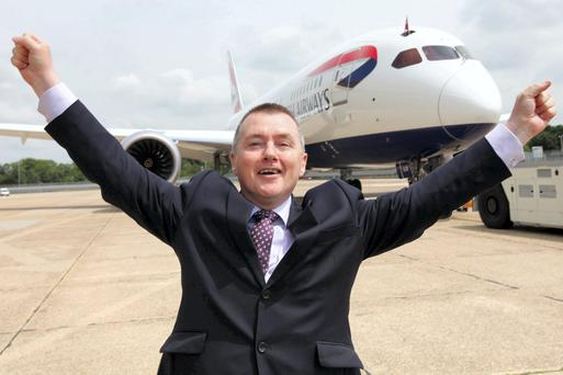 IAG chief executive Willie Walsh briefed investors. Photo: PA