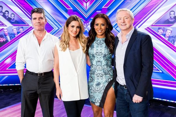 The X-Factor judging panel of (left to right) Simon Cowell, Cheryl Fernandez-Versini, Mel B and Louis Walsh. Photo: PA