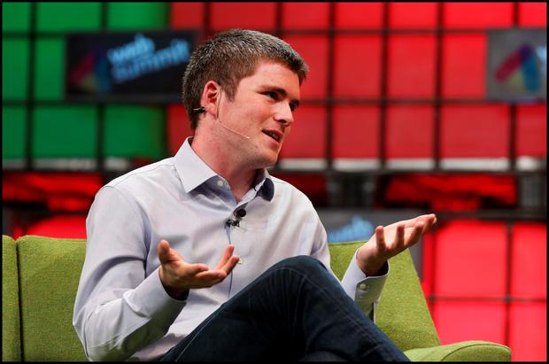 John Collison, co-Founder of Stripe, speaking at last month's Web Summit in Dublin. Picture: Steve Humphreys