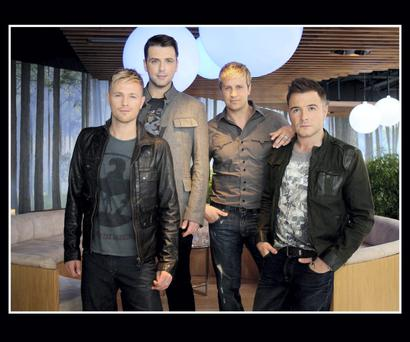 Westlife's Nicky Byrne, Mark Feehily, Kian Egan and Shane Filan