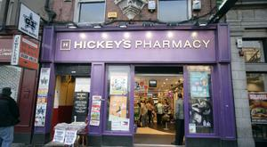 Hickey's Pharmacy on O'Connell Street, Dublin. Photo: Arthur Carron/Collins