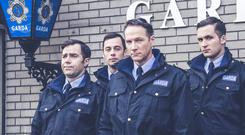 Red Rock cops, from left, Gardai Paudge Brennan (Patrick Ryan), Adrijan Kosos (Boyko Krastanov), Brian McGonigle (Sean Mahon) and Sean Holden (David Crowely)