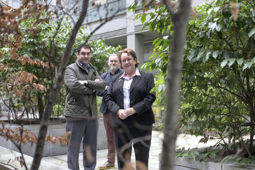 Rachel Doyle director of Arboretum home and gardens with her sons Barry and Fergal. Photo: Mark Condren.