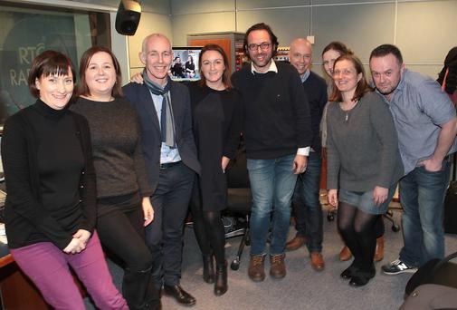 Ray Darcy pictured with his team as he started his new afternoon show on RTE Radio 1 earlier this month. Picture: Brian McEvoy