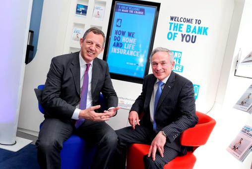 KBC chief Wim Verbraeken with Jobs Minister Richard Bruton