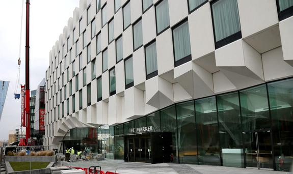 The Marker Hotel at Grand Canal Square in Dublin's Docklands.