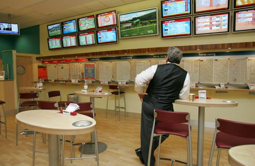 Ladbrokes has 196 outlets in Ireland but the loss-making business here faces restructuring, the betting chain warned yesterday. Photo: Bloomberg
