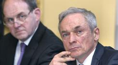 Love those multinationals: Minister for Jobs Richard Bruton with IDA president Frank Ryan. Photo: Damien Eagers