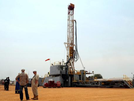 Oil exploration in Uganda, where Tullow Oil is teaming up to develop oil fields