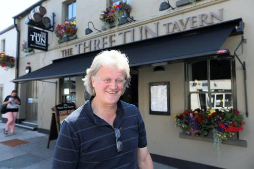 Tim Martin, of Wetherspoons at The Three Tun Tavern, Blackrock yesterday.