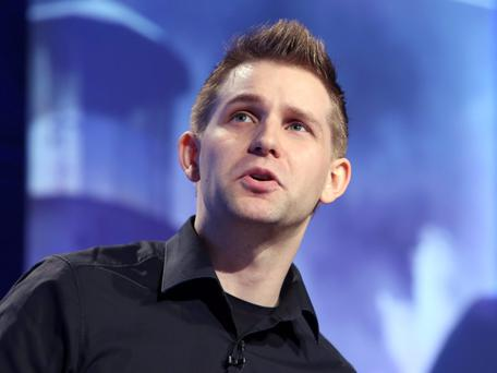 Max Schrems, 27, an Austrian privacy activist who is taking a class action suit against Facebook speaks at the 7th National Data Protection Conference in Dublin Castle. Picture credit; Damien Eagers 28/1/2015