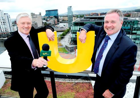 Pat Kenny and John McCann, Chief Executive of UTV Media PLC at the launch of UTV Ireland.