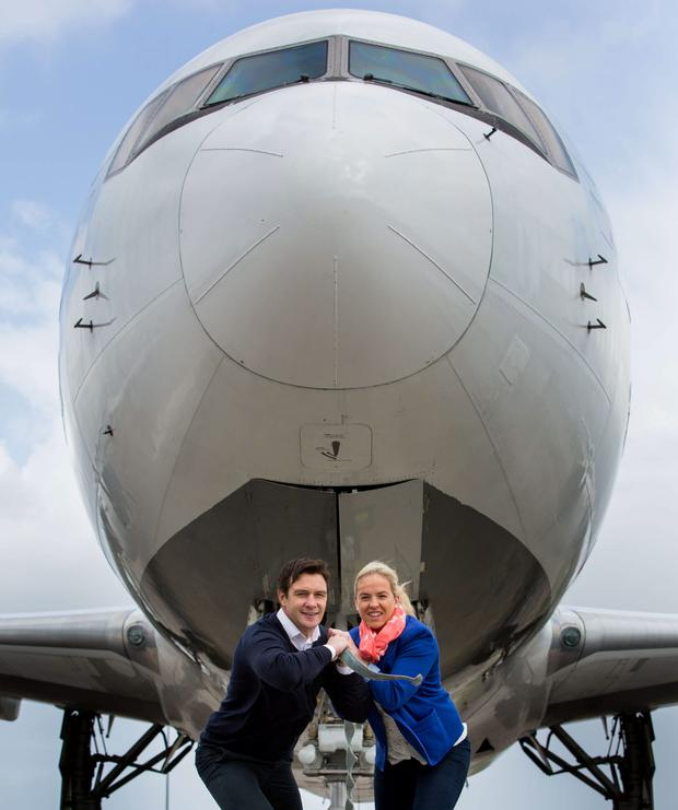 Ireland and Munster Rugby star David Wallace and Women's Six Nations Rugby champion Niamh Briggs launch the second annual Shannon Airport European Sport Tourism Summit, which will be held at Thomond Park Stadium in Limerick on May 14 and 15