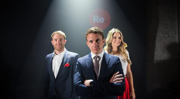 Luke Fitzgerald; Emmet O'Neill, CEO of Topaz; and Vogue Williams present Re.Store, a dynamic new Irish food, coffee and convenience concept who have joined forces with Ireland's leading fuel retailer, Topaz.