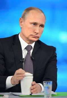 STRONG MAN POLITICS: Russian leader Vladimir Putin