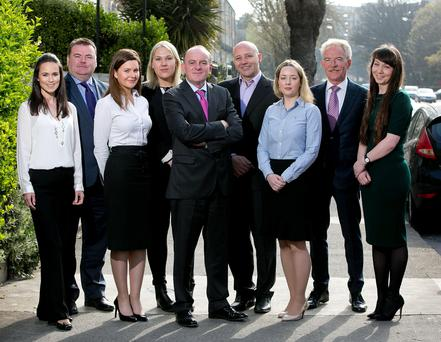 The Heneghan PR team line-up following the announcement of the expansion of the consultancy.