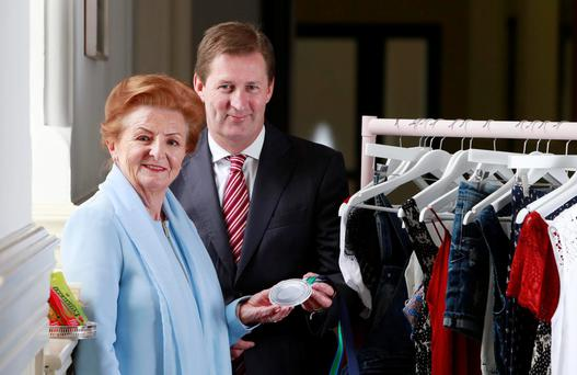 Breege O'Donoghue of Penneys and Gordon Hardie of Bunge Food are being honoured with the UCD Business Alumni of the Year 2015 awards. Photo: Conor Healy