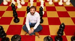BEANBAGS AND GIANT CHESS: John Hurley, CTO of Ryanair, in the HQ — which looks suspiciously like an typical start-up. Photo: Gerry Mooney