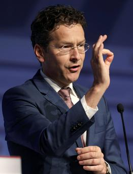 Minister of Finance of Netherlands and President of the Europgroup Jeroen Dijsselbloem gestures at a news conference during an informal meeting of Ministers for Economic and Financial Affairs (ECOFIN) in Riga, Latvia. Photo: Reuters