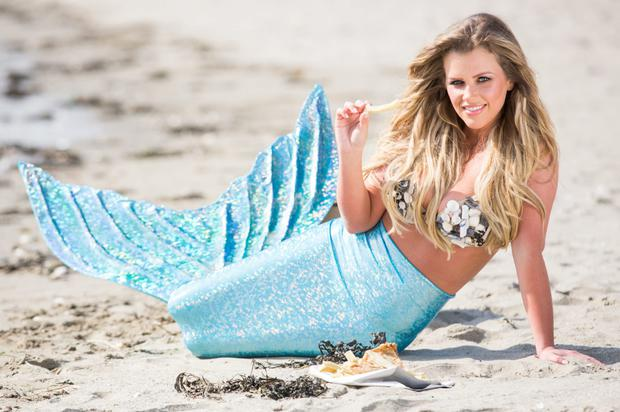 'Mermaid' Holly Keating at the launch of National Fish & Chips Day