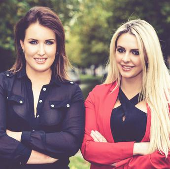 Pucker girls Niamh McHugh and Louise Dunne