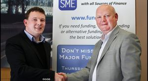 Tom O'Reilly Vice President of Sales at Linked Finance, left, with Nollaig Fahy CEO of Fund SME