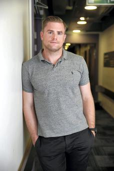 Jamie Heaslip at the Lovin Dublin Show Live at the Bord Gais Theatre in Dublin. Photo: Arthur Carron