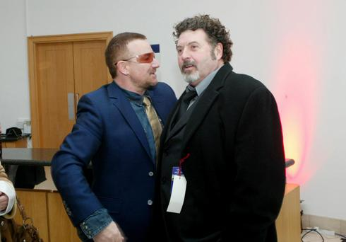 Music promoter Denis Desmond pictured with Bono in 2007