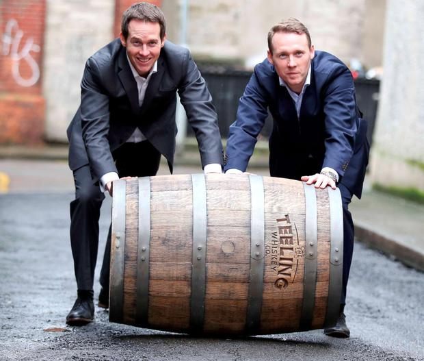 Teeling boss Jack Teeling, above, with brother Stephen, the company's managing and sales director