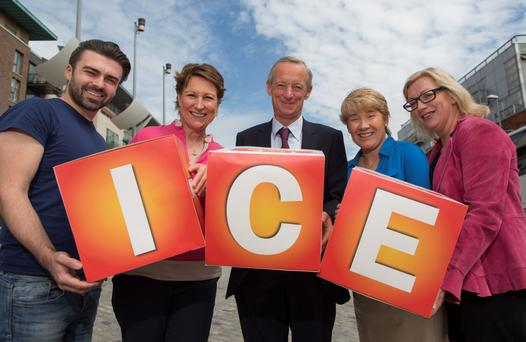 Matthew Toman, Bankhouse Productions; Peaches Kemp, Director at ICE; Vincent Crowley, ICE Director; Evanne Kilmurray, Chief Executive Officer of ICE; and Helen Walsh of Helen Walsh Fitness, Wellness, Coaching, promote the initiative in Dublin