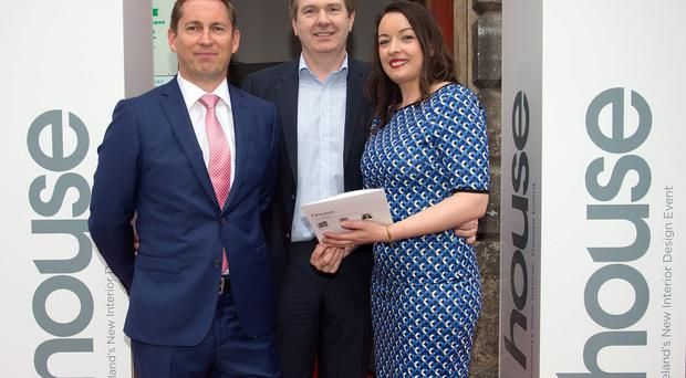 From left, managing director of Event Haus Garret Buckley, INM editor-in-chief Stephen Rae and Cliona Carroll, INM's sponsorship & events manager, at the launch of House 2016