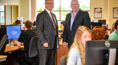 Tim Houstoun and Sean Gallagher at the Clonakilty HQ of Global Shares
