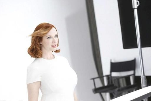 Actress Christina Hendricks is a brand ambassador for Clairol's Nice N Easy products.
