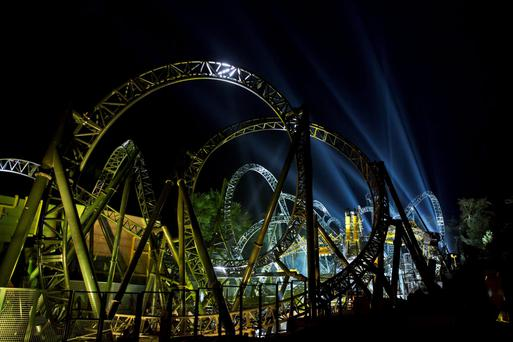 The Smiler rollercoaster ride at the Alton Towers Resort in Staffordshire where the accident took place in June