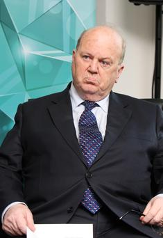 Michael Noonan,TD,the Minister for Finance at the launch of Activate Capital , a partnership between the Ireland Strategic Investment Fund and leading global investment firm KKR at their offices on St.Stephen's Green,Dublin yesterday. Pic Tom Burke 28/7/2015